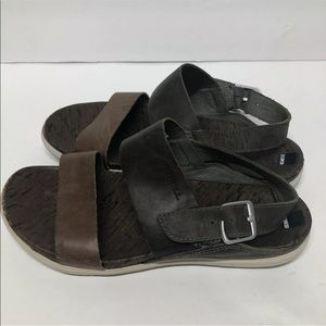 Merrell Brown Leather Vertiver Ankle Strap Sandals